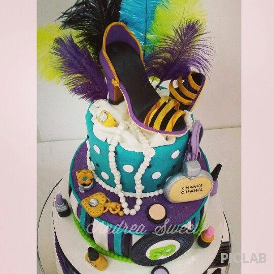 Retro fashion cake