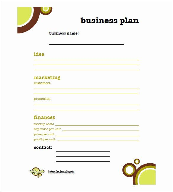 Printable Business Plan Template Fresh Simple Business Plan Template 20 Free Wor Simple Business Plan Template Business Plan Template Free Simple Business Plan