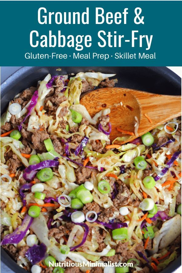 Ground Beef And Cabbage Stir Fry Recipe Ground Beef Cabbage