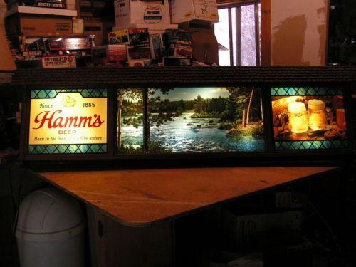 Large Vintage Hamm S Scene O Rama Lighted Motion Beer Sign