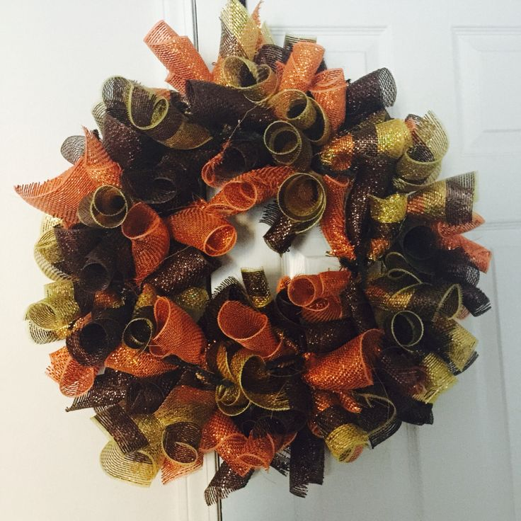 Candy Corn Wreath Happy Fall these are