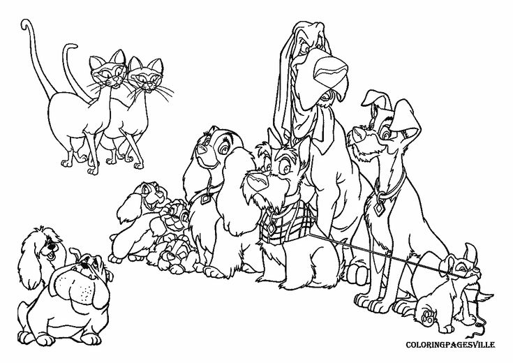 Angel Brood | Lady and the Tramp Coloring Pages | Pinterest | Kids net