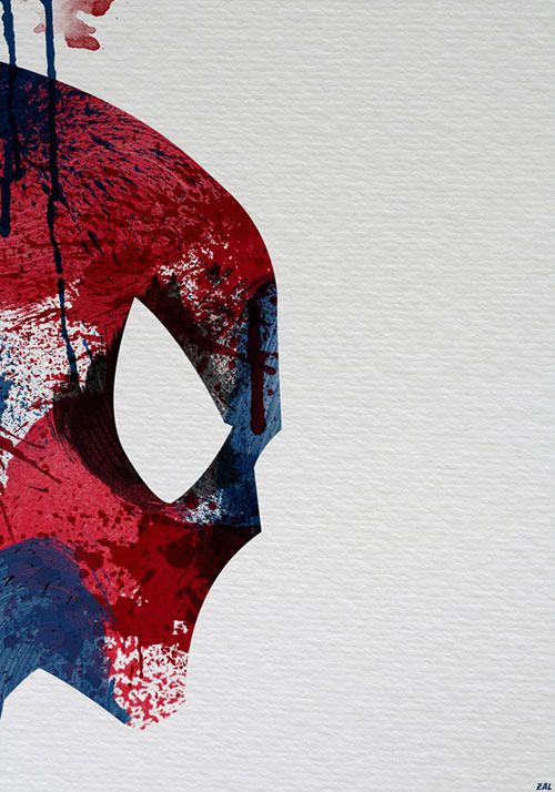 Spiderman. superb abstract paintings of superheroes by Arian Noveir