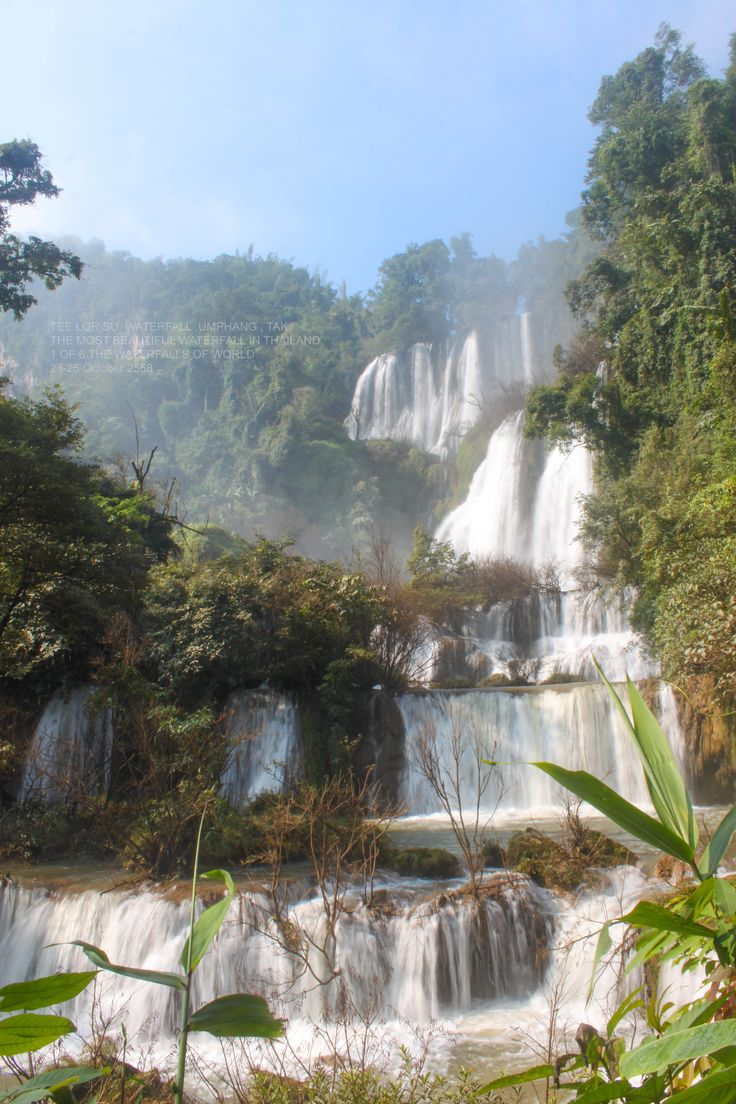 TEE LOR SU WATERFALL.TAK - Travel Thai Asia . THE MOST BEAUTIFUL WATERFALL IN THAILAND.1 OF 6 THE WATERFALLS OF WORLD.