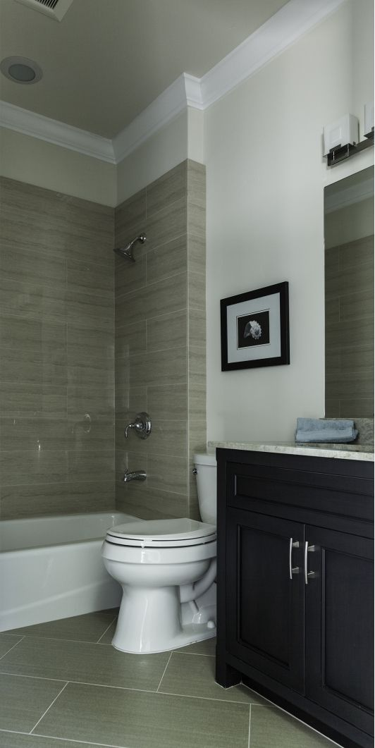 This is a small bath having clean lines and simple design.- Home and Garden Design Ideas