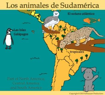 Pepper's booklet, maps, PowerPoint, posters and games introduce animals of South…