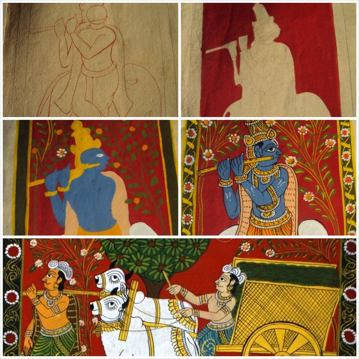 Cheriyal Scroll Painting