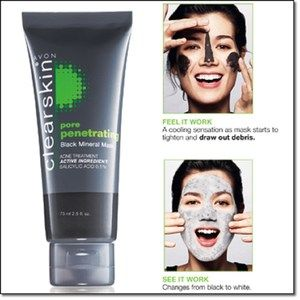Avon Clearskin Pore Penetrating Black Mineral Mask best mask I've ever used! Www.youravon.com/tjwatts3204