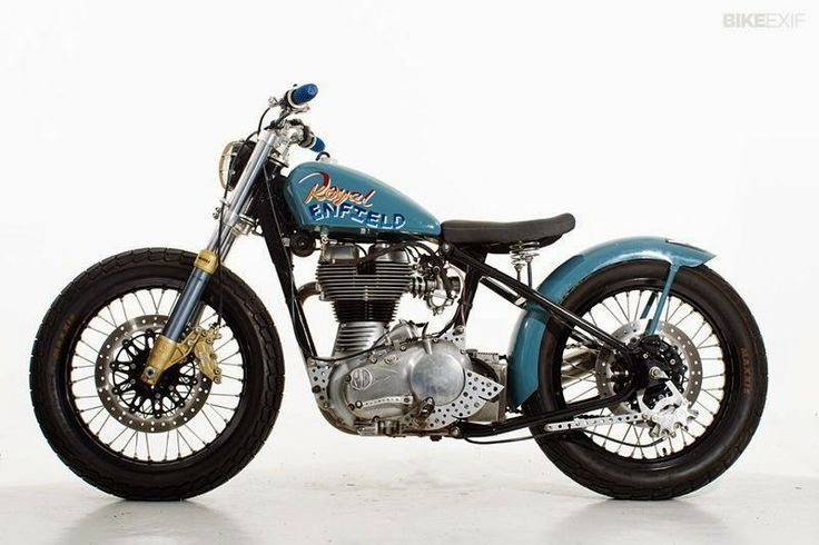 Custom Royal Enfield Bullet | Sideburn  Based on a 2009 Royal Enfield Classic, only the frame and engine was used custom made fuel tank, Click to read more