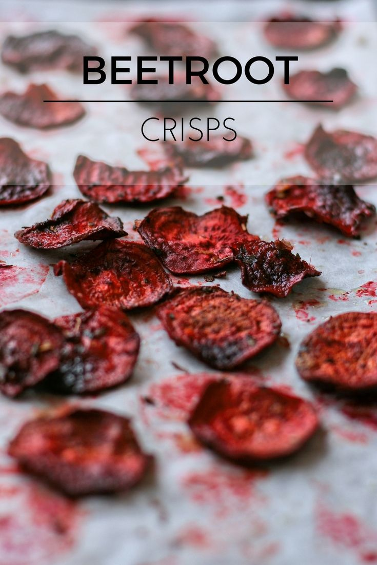 Healthy home made beetroot crisps. (Vegan, gluten free, sugar free snack.)