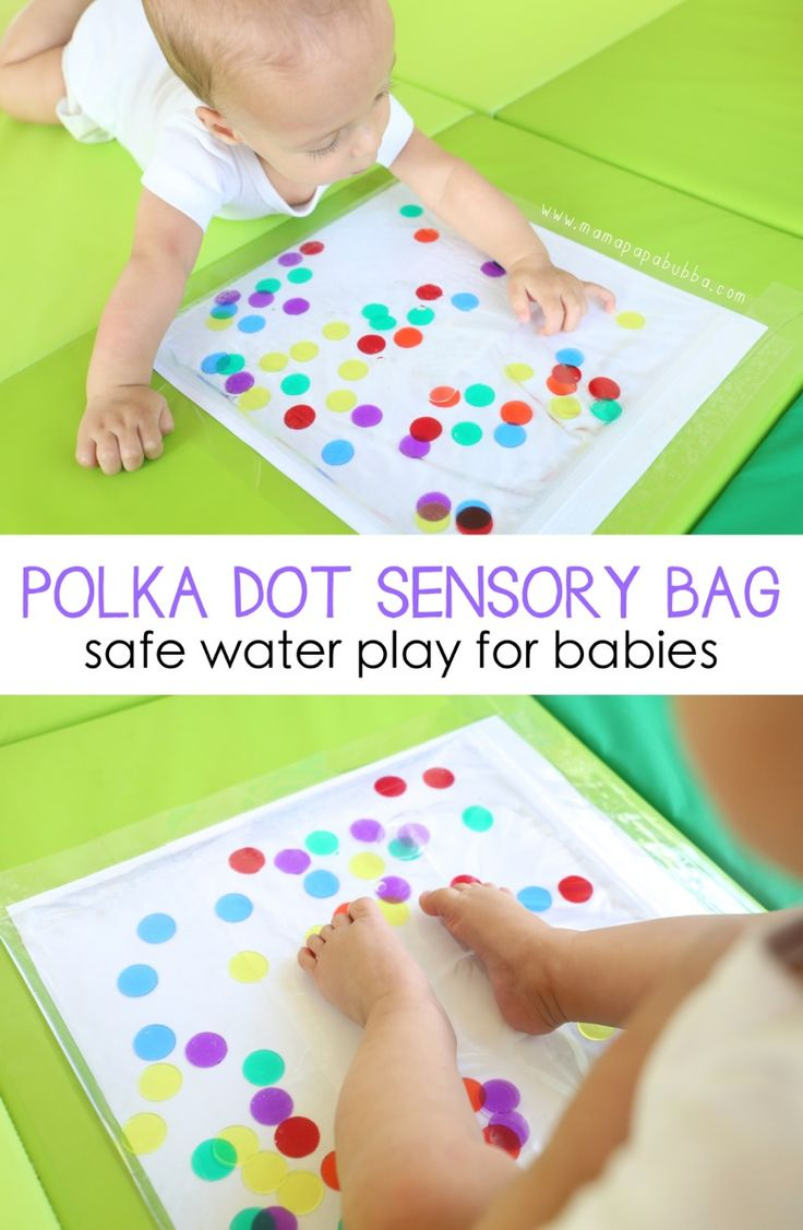 Polka Dot Sensory Bag for Babies - Mama.Papa.Bubba.