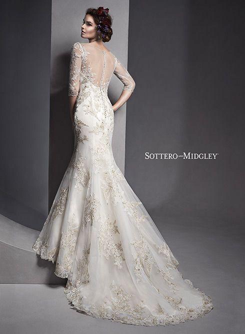 19 best sottero midgley images on pinterest short for Slimming wedding dress styles