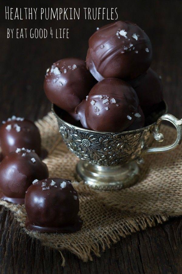 Pumpkin truffles. Gluten-free, vegan and simply sensational. A must do by Eat Good 4 Life.