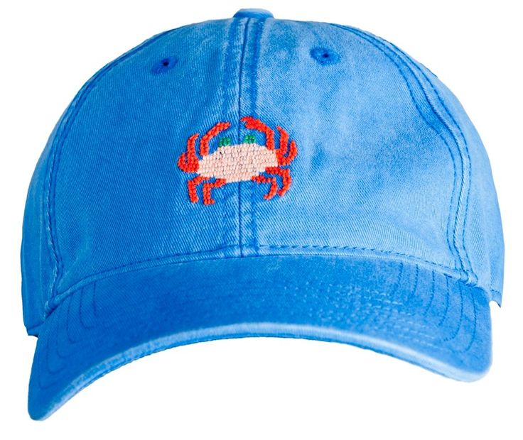 Harding-Lane: Needlepoint Hat, Baseball Cap, Crab Needlepoint, Harding Lane Hats, Hardinglane, Crab Hat, Products, Crabs