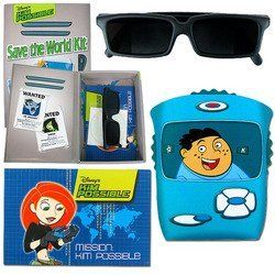Trademark Global 72-0146, Disney's Kim Possible Top Secret Spy Kit by Trademark Global. $1.99. Call her, beep her, if you want to reach her.or you can just handle the crisis on your own with the Disney's Kim Possible Save the World Spy Kit. This kit contains everything you will need to help Kim save the world. You will receive a book of coded messages, a Kimmunicator decoder to crack the messages (or write your own), spy sunglasses that will allow you to see w...