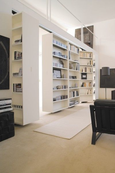 Changeable walls by ALBED.  Produce equipped walls and walk in closets, so walls that can be changed into open rooms.