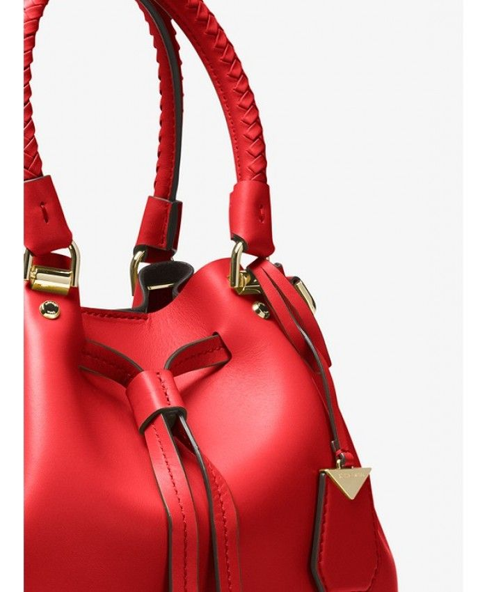 67c434f0e9df Michael Kors Satchel Blakely Leather Bucket Bag Bright Red