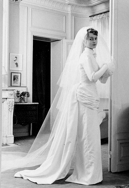 18 year old Brigitte Bardot married her first husband Roger Vadim at the Church of Passy, Paris on the 21st December 1952.