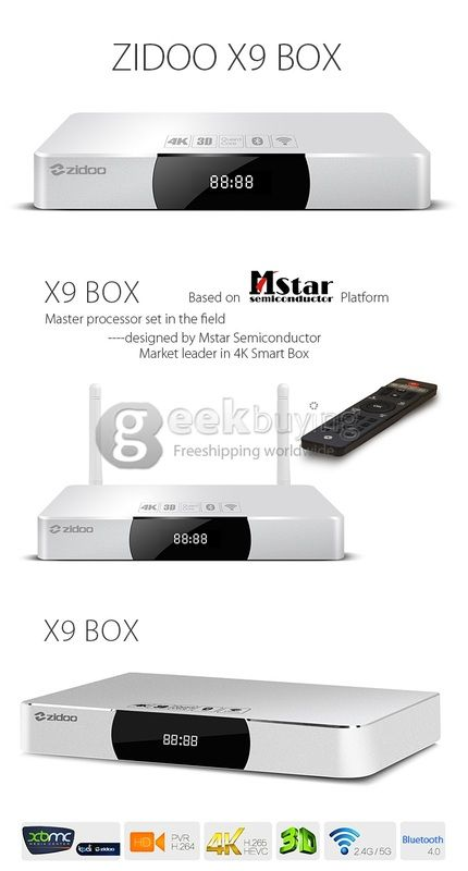ZIDOO X9 Quad Core 4K TV BOX $24 off Coupon from GEEKBUYING - Mobiles-Coupons