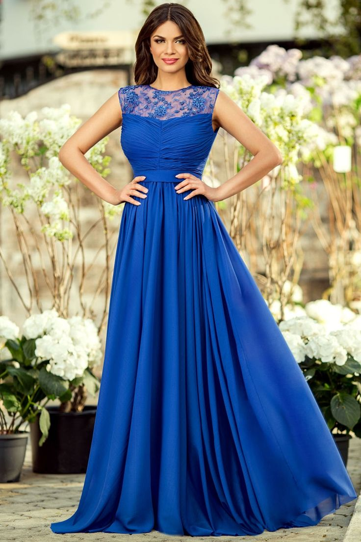 Rochie lunga de seara Azaria Albastru