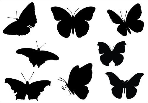 butterfly Silhouette Clip Art pack