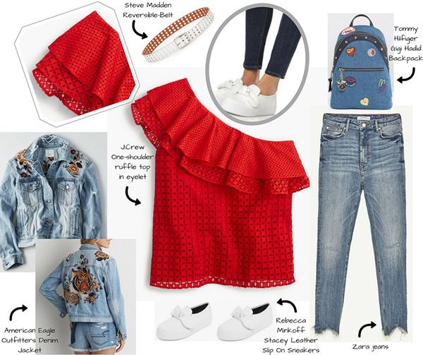 my english mood  Red passion/2: J.Crew+Zara+Rebecca Minkoff+AmericanEagle    #fashion #fashionblog #fashionblogger #redpassion #red #ss2017 #jcrew #zara #top