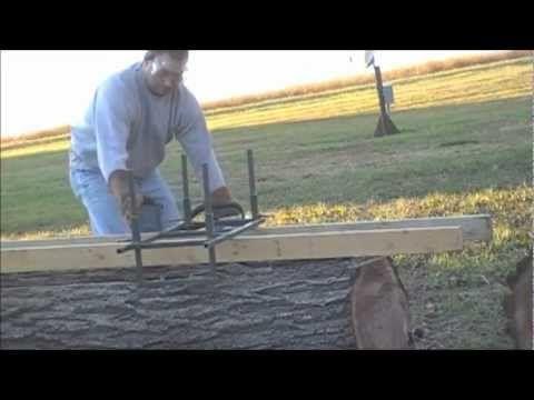 Homemade Chainsaw Lumber Mill - YouTube