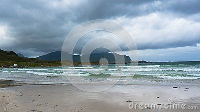 Beach on Lofoten in Unstad, #Norway. Best place for #Arctic #surfing