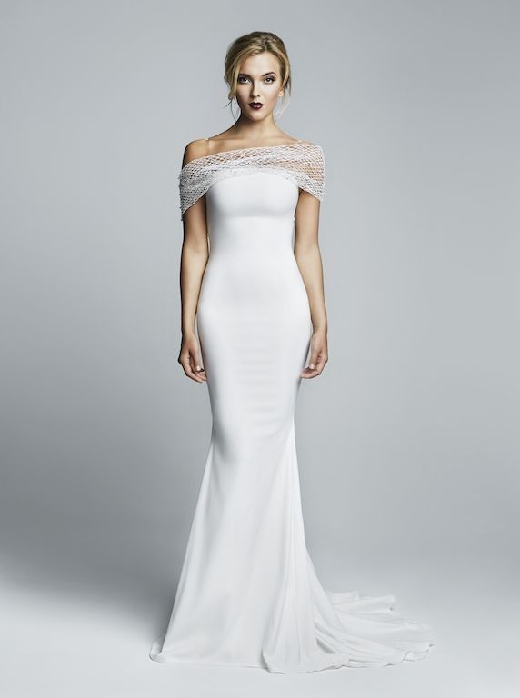 25 best ideas about off shoulder wedding dress on for Over the shoulder wedding dress
