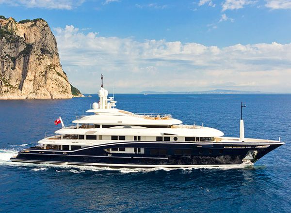 Numptia Super Yacht. You can charter the Numptia through Burgess Yachts for roughly 650,000 per week.