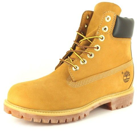 New Mens/Gents Wheat Nubuck Timberland Premium Leather Fashion Boots - Wheat Nubuck - UK SIZE 9.5