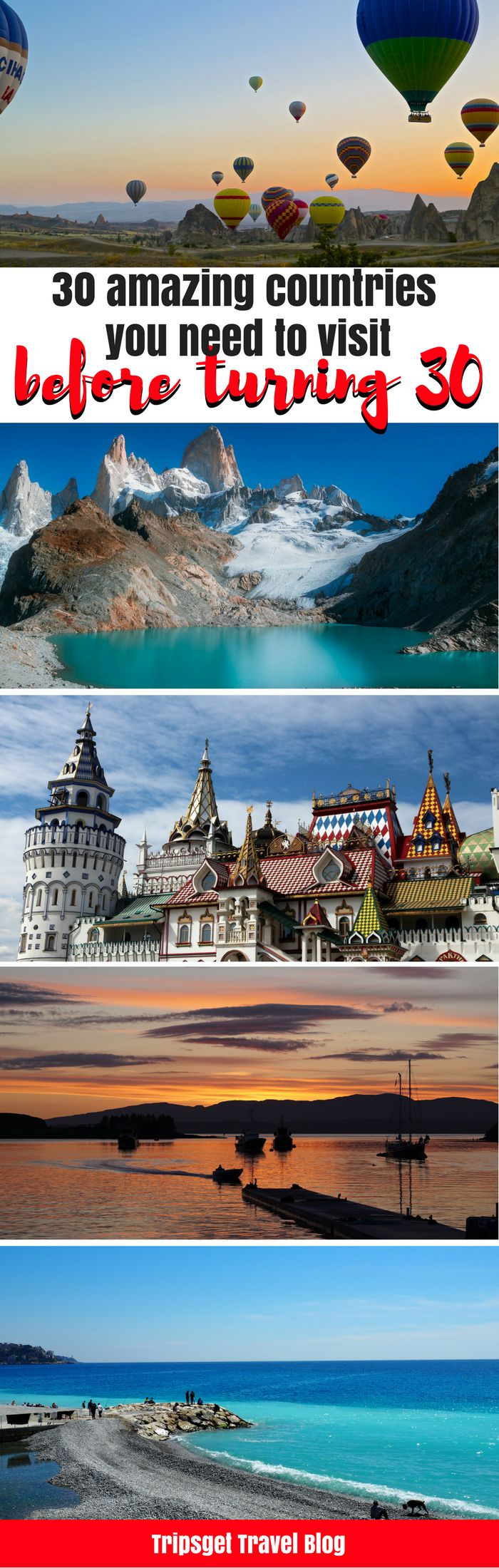 30 countries need to visit before you turn 30: Cuba, Argentina, Russia, Turkey, Indonesia, Cambodia, Peru, India, Italy, France, Germany, Vietnam