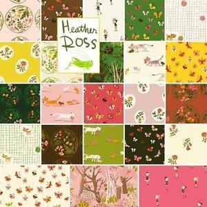 Heather Ross TIGER LILY Fat Quarters 23 Precut Cotton Fabric Quilting FQs Assort  | eBay