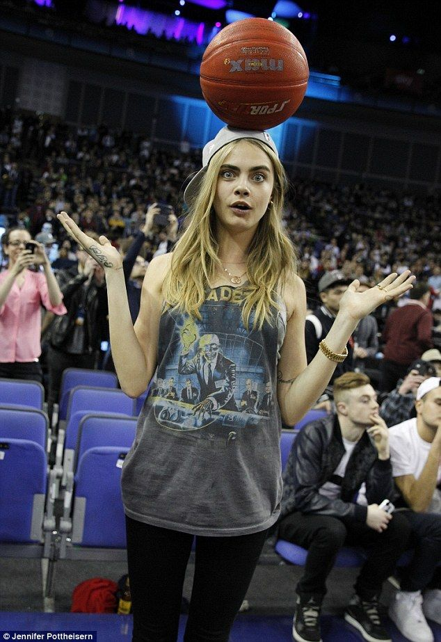 Cara Delevingne at the NBA Global Games in London