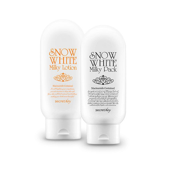 Secret Key Pack Snow White Corporal : Milky Pack   Milky Lotion