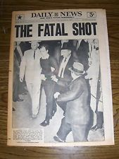 NOV. 25, 1963 NEW YORK DAILY NEWS NEWSPAPER: KENNEDY ASSASSIN OSWALD SHOT