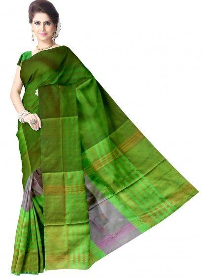 Green Pure Uppada Handloom Silk Saree & Blouse Product code: UHSUP7S002 Retail price: 4,528/- Sale price : 4,312/-