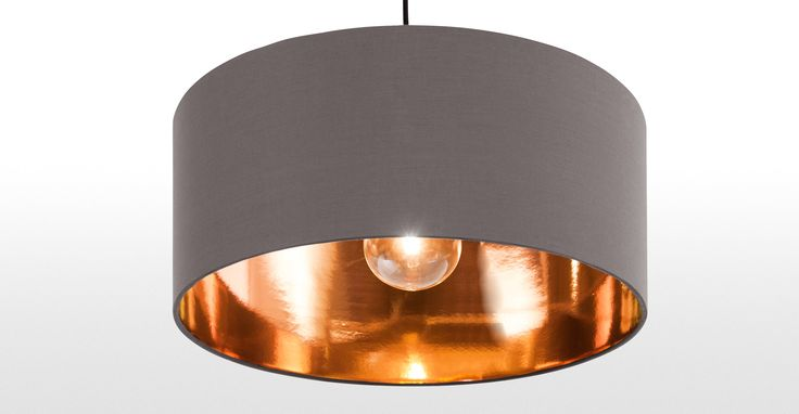 Hue Pendant Shade, Grey & Copper | made.com