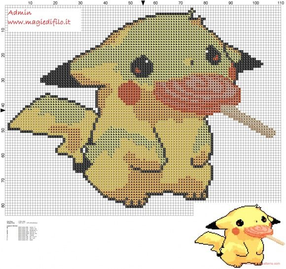 Pikachu pokemon 025 first generation (click to view)
