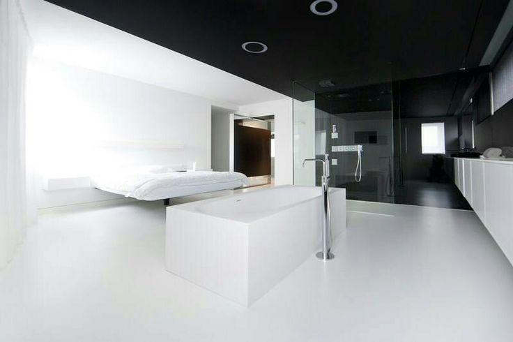 25 beste idee n over zwarte slaapkamer muren op pinterest donkere slaapkamer muren zwarte - Plafond geverfd zwart ...