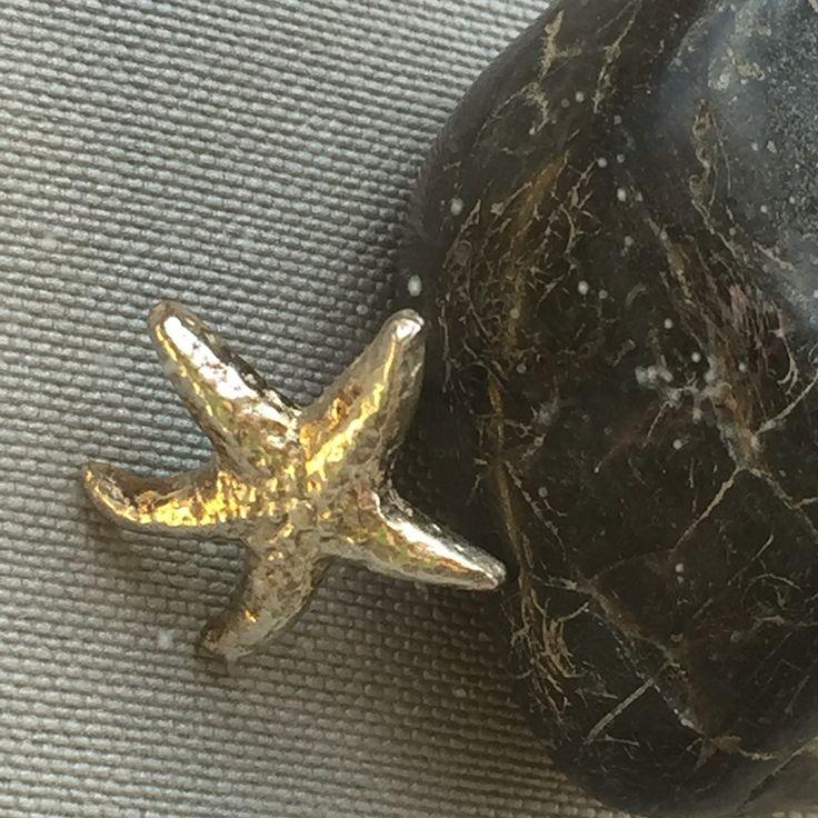 Arete estrella de mar plata 925