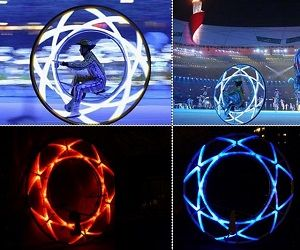 olympic ceremony monowheel #howdidilivewithoutthis #monowheel #unicycle #cool #olympics #bike #bicycle #fitness #exercise #healthy