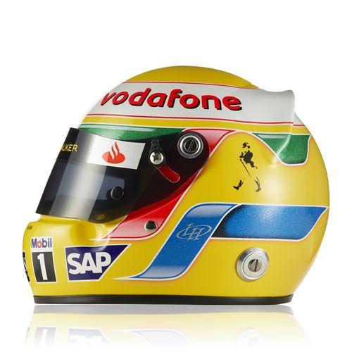 """""""Vodafone McLaren Mercedes"""" Hamilton Helmet 2008 (1:2) at McLaren Store"""