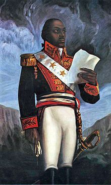 Toussaint Louverture (1746-1803) Haitian revolutionary leader. Born a slave, he became a general in the French army but after driving out the British and Spanish expeditions, he took control of the island. Napoleon sent an expedition to restore control and the re-establishment of slavery. He was treacherously seized from a meeting, imprisoned, and died of neglect in prison.