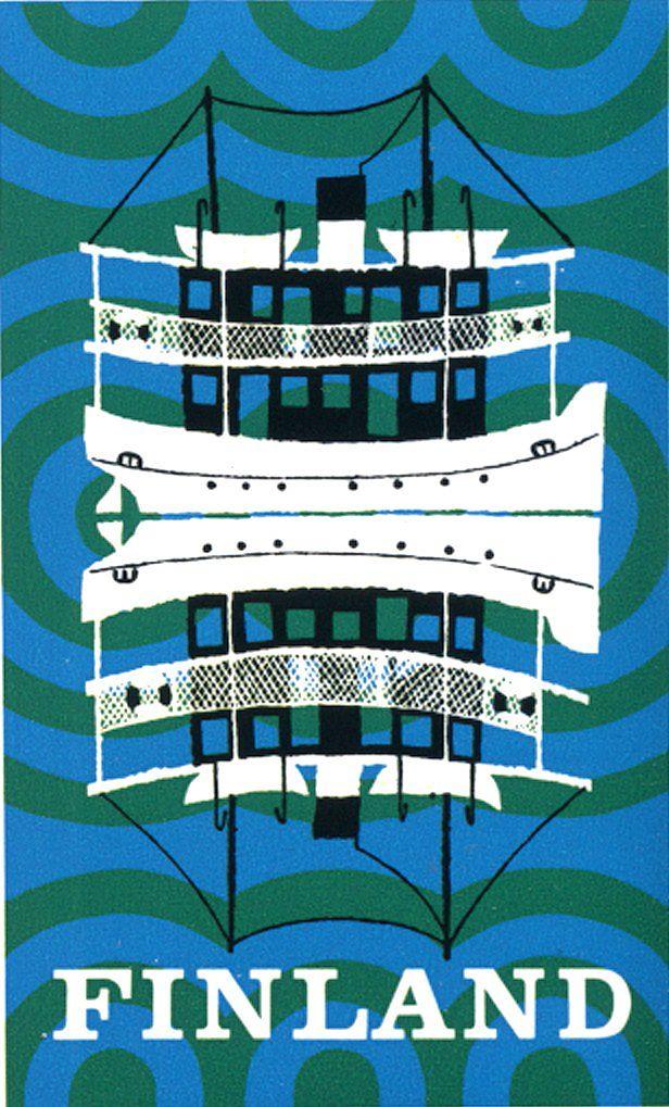 Finland graphic - Boat & Sea