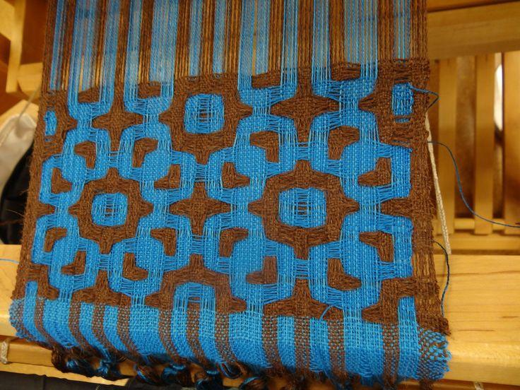 Deflected double weave
