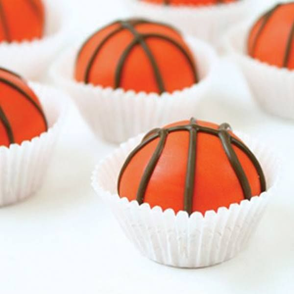 From Duncan Hines - Root for your favorite school team with Basketball Cake Balls by Baker's Club member Miss CandiQuik. — with Clarinda Kay Parker.