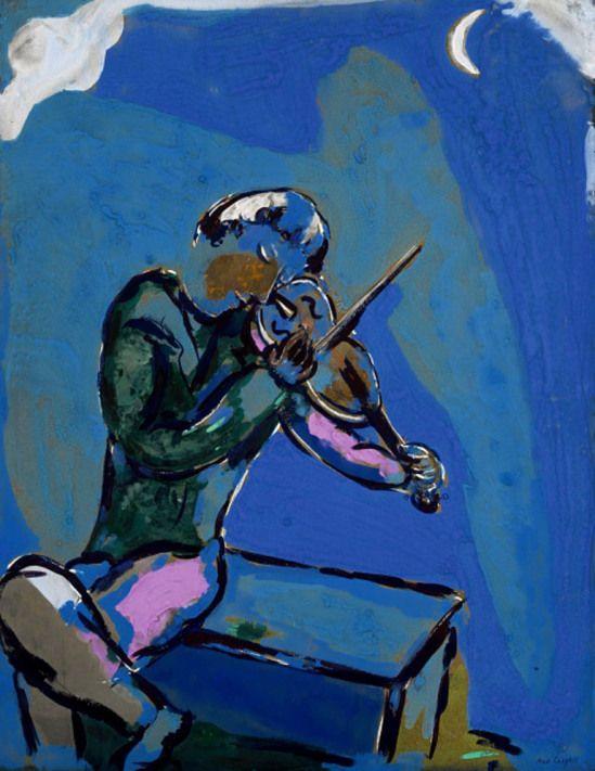 Marc Chagall. Le violiniste bleu 1929