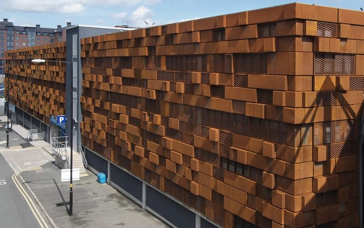 Corten Steel Rainscreen Cladding Parking Ramp