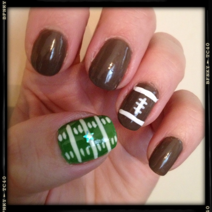 17 best ideas about football nail designs on] with 28+ More Ideas